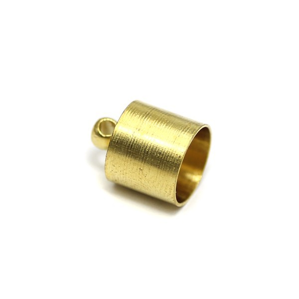 brass 10x13.5mm rimp bead bungee cord end cord clasp