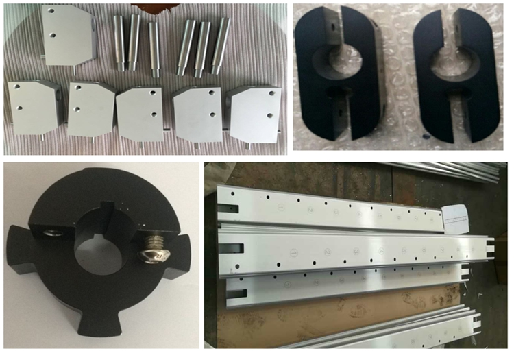 Custom OEM cutting drilling threading milling punching holes extruded aluminum profiles cnc machining