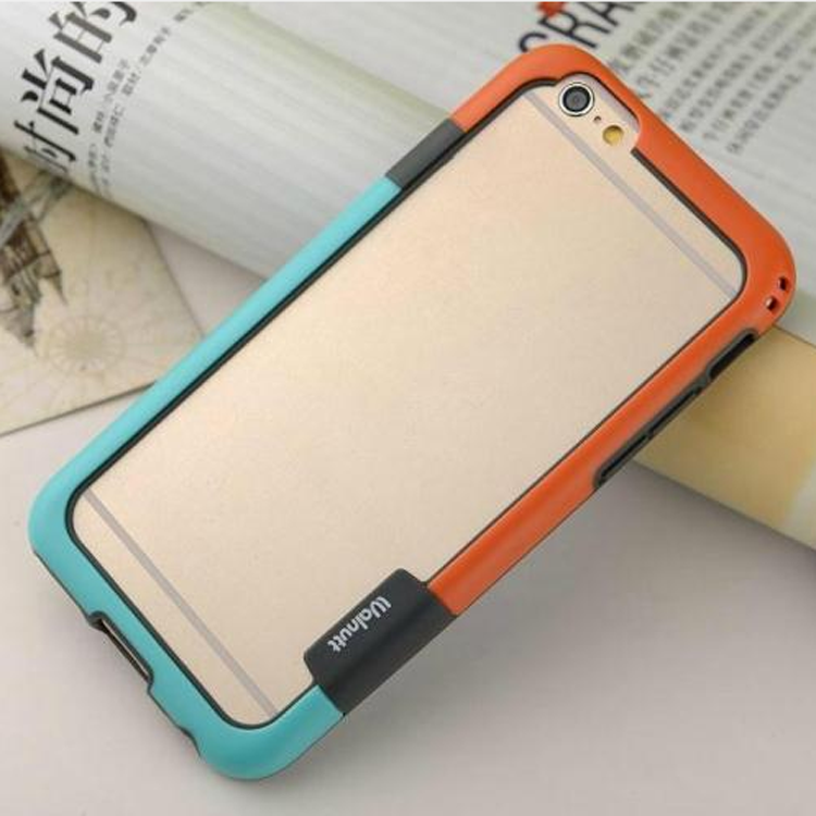 Hot sell dual colors soft TPU bumper case for iPhone 6,for iPhone 6 shockproof bumper