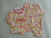 3 pcs set - Girl Sleepwear + Hair Pins size 2, 4, 6, 8 years