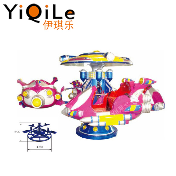 Funny electric flying toy of carousel with music for kids