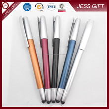 Promotional gifts colorful metal touch screen pen with custom logo