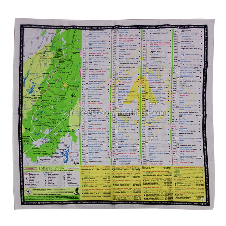 Polyester/cotton fabric travel map tea towel
