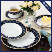 Round Shape 20pcs Dinner Set Exclusive Gold Design 1014