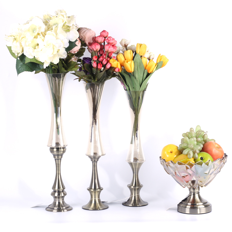 wedding table centerpiece decorative set of vase and fruit plate wedding