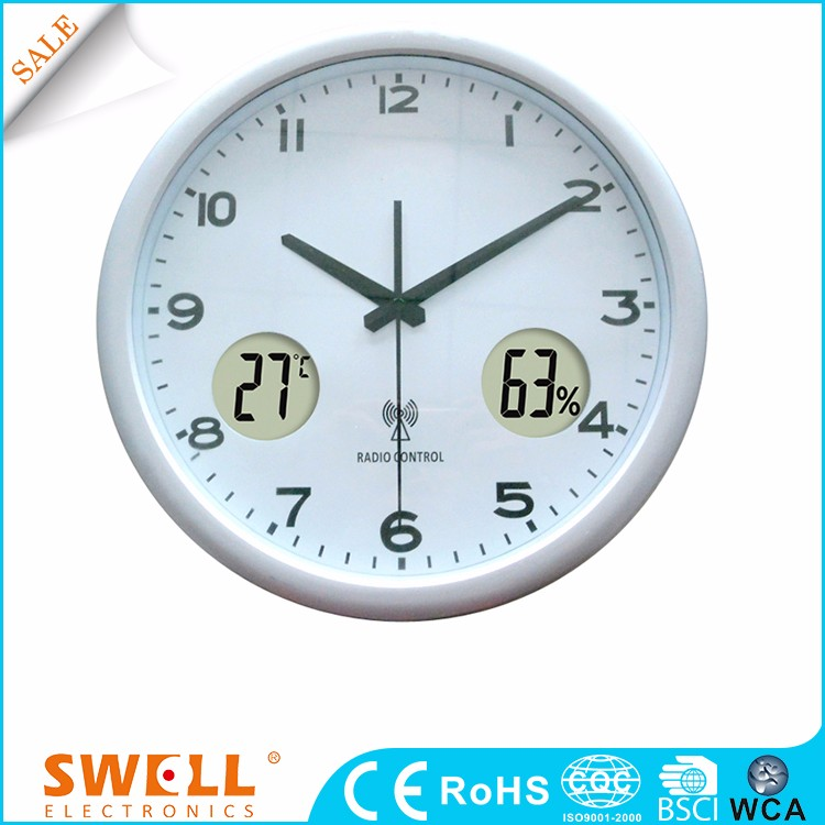wall customizable promotion round wall hanging digital clock