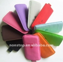 Mobile Phone Leather Pull Tab Protective Pouch Case