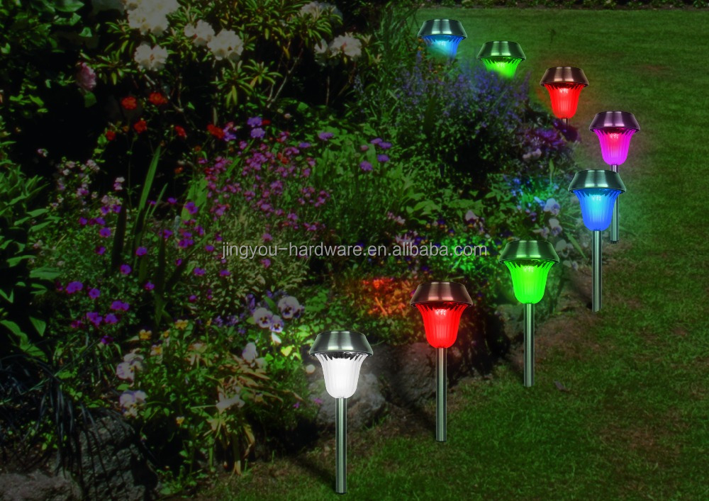 2015 high power LED solar garden parthway lamp yard lighting