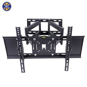 Double Arm Tilt Swivel VESA 600*400 MM Full Motion TV Wall Mount Bracket for 27-70 Inch