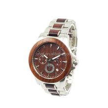 Top quality Luxury steel and wooden watches with import Japan movement for men women