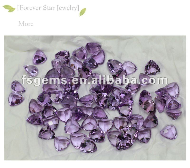 Brazil Amethyst Best Price Natural Stone For Jewelry Trillion 12*12 Factory Direct Good Quality 2GN06007A