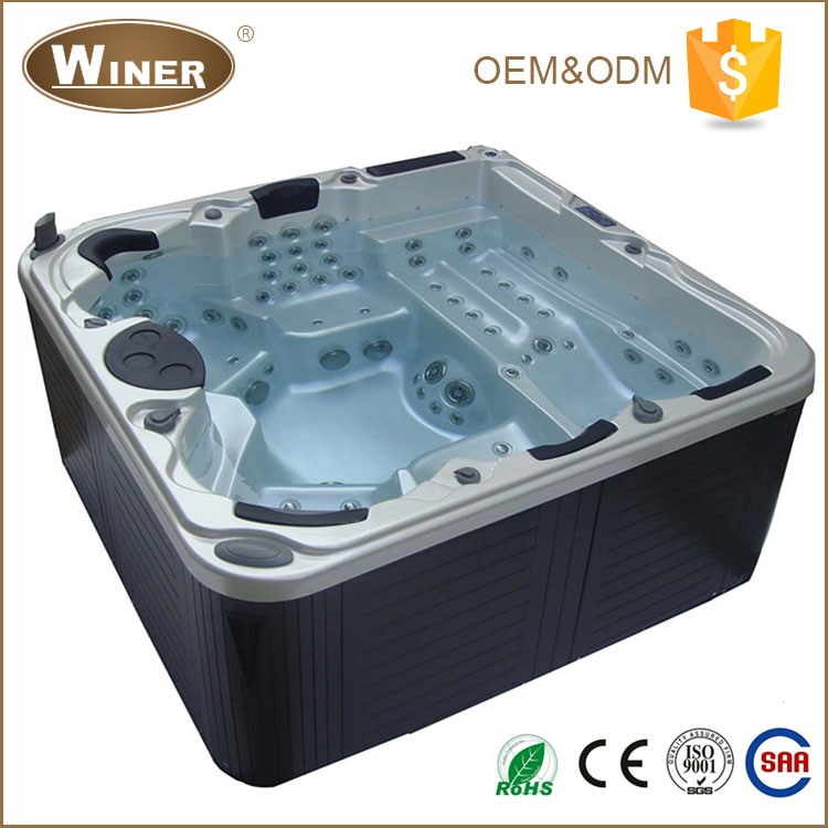 CE/RoHs European Style 5 Persons freestanding badewanne acrylic whirlpool massage outdoor portable hydro balboa hot tub spa tub