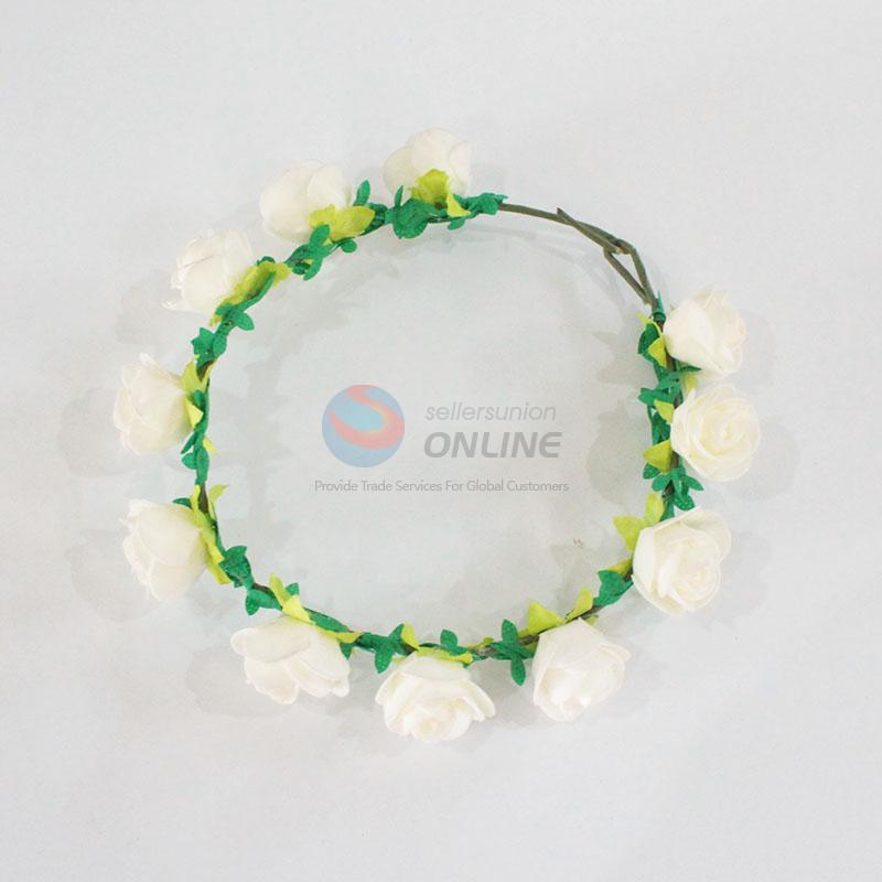Promotional white flower garland/hawaii flower lei