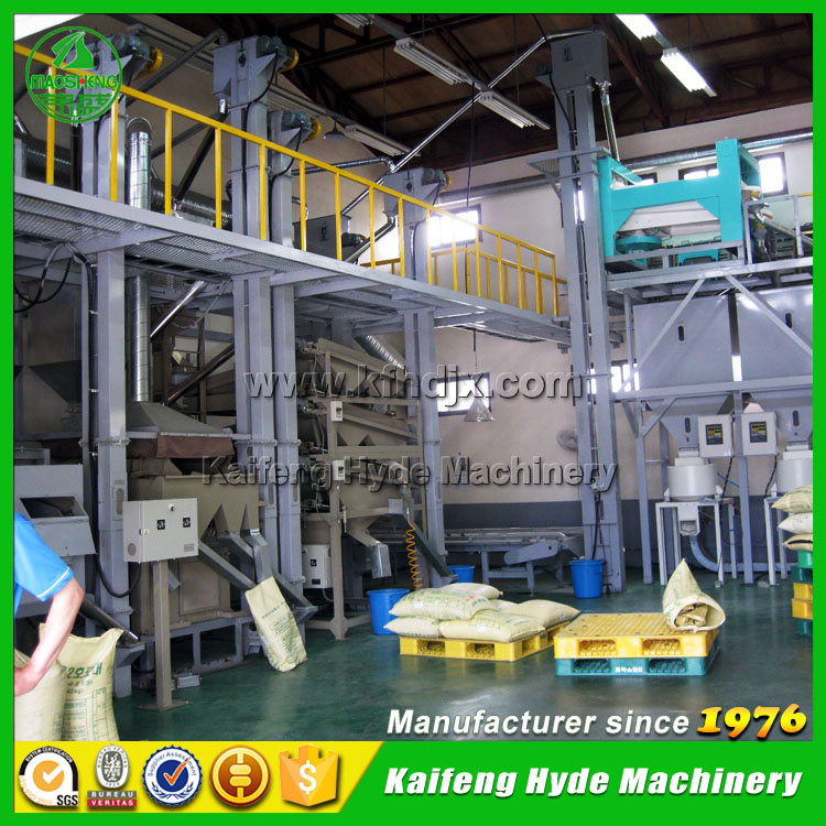 5ZT green coffee bean seed cleaning grading sorting packing plant by Hyde Machinery