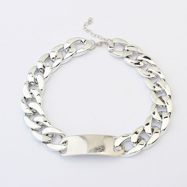 Silver plated beads fashion foot chain jewelry necklace chains wholesale fashion dollar cuban link chain hip hop necklace PN1440