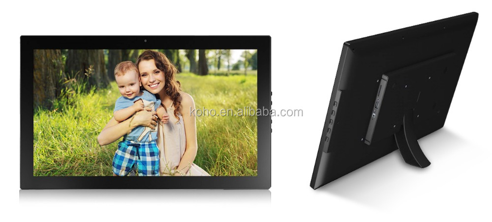 Professional big size digital photo frame 21.5 inch