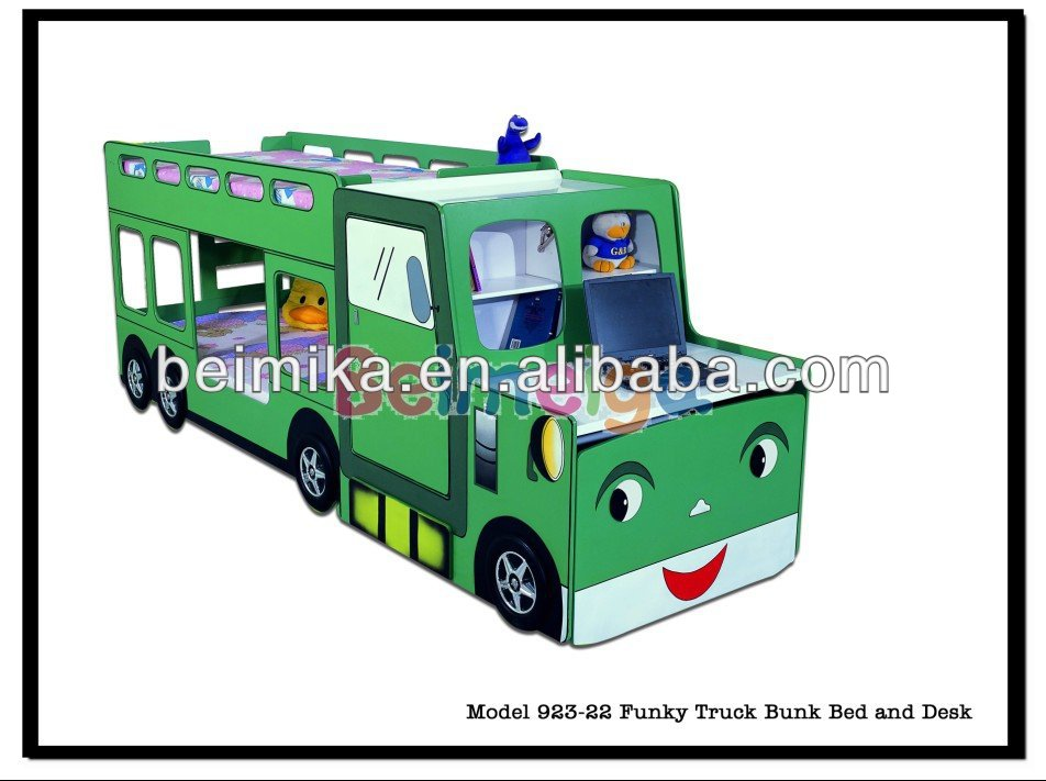 funky truck bunk bed with study desk 923-22 - buy truck bunk bed
