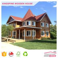 Wood House Prefabricated Log Homes Made in China with High Quality KPL-