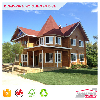 Wood House Prefabricated Log Homes Made in China with High Quality KPL-092