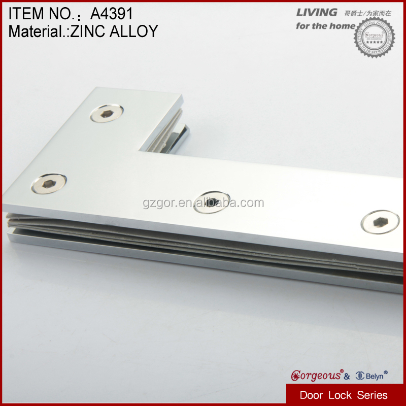 HOT~HOT, new products tempered glass zinc alloy casting door metal accessories