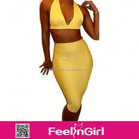 Alibaba online shopping women gold bandage dress China