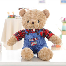 EN71 certification cute design custom stuffed name giant teddy bear 30cm 60cm 160cm 180cm 200cm soft brown white bear plush toys