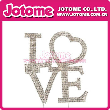 Romantic wedding cake topper letter love propose marriage