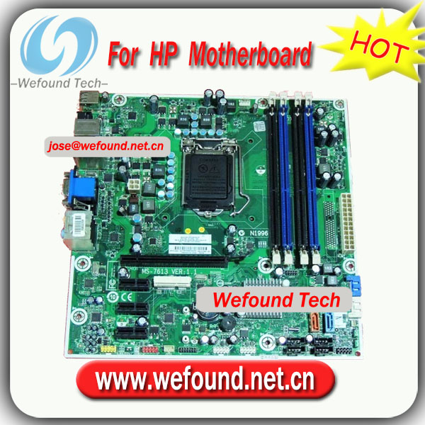 100% Working Desktop Mainboard for HP 614494-001 612500-001,Iona GL8E MS-7613 H57,Socket 1156,DDR3