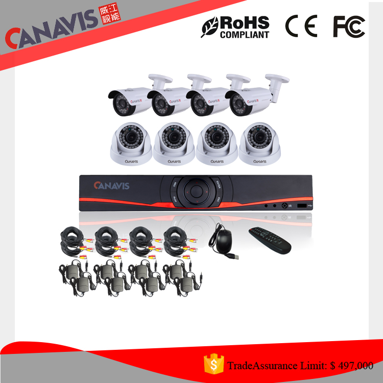 Cheap selling! Home Security outdoor/indoor camera System 720p 4 ch 1.0 Megapixel AHD Waterproof Bullet and dome cctv kit