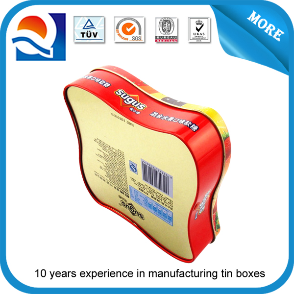 china supplier star shaped tin box stamp pad with good quality