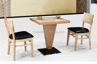 Modern coffee house wooden tables and chairs design(FOH-BCA10)