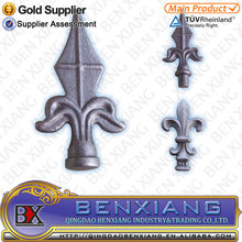 steel post top pickets top forged spear heads casting steel spears
