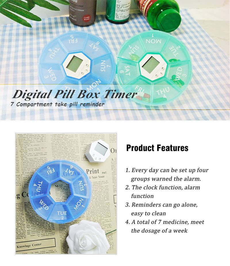 2017 newest week pill box 7 day Medicine Pill box for health care with CE LFGB