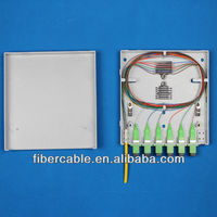 Supply 6 fibers/12 LC fibers plastic fiber distribution box FTTH-008