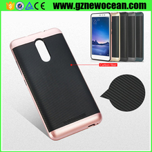 2017 New arrival PC TPU hybrid Anti fingerprint brush phone case for Redmi note 3 back cover