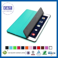 Newest hot selling for apple ipad 5 pu leather smart cover case