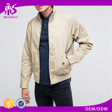 Promotional Made in China Alibaba Cheap 100% Polyester Fashion Blank Beige men's double sided jacket