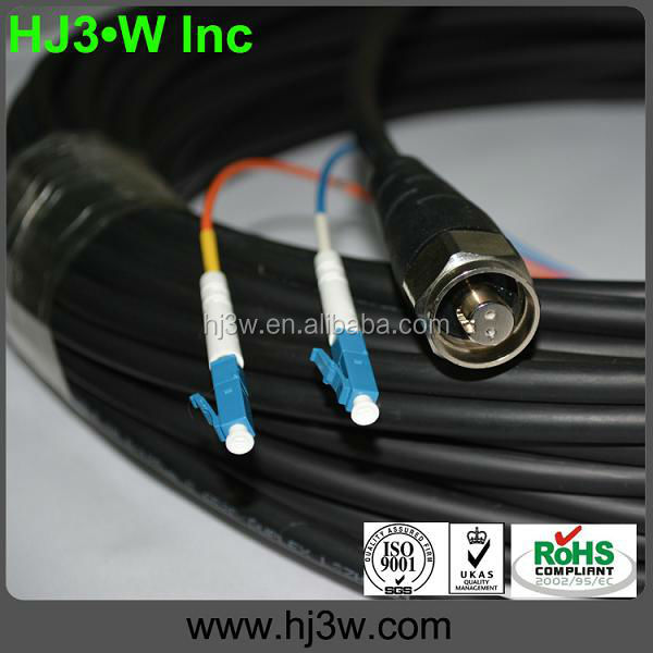 Fiber Optic Outdoor Patch Cord HRC-2 Male connector to LC Duplex Patch Cable