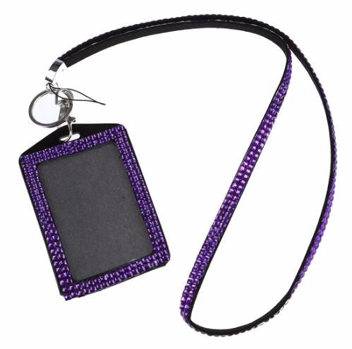 Factory price bling ID badge holder rhinestone Lanyard