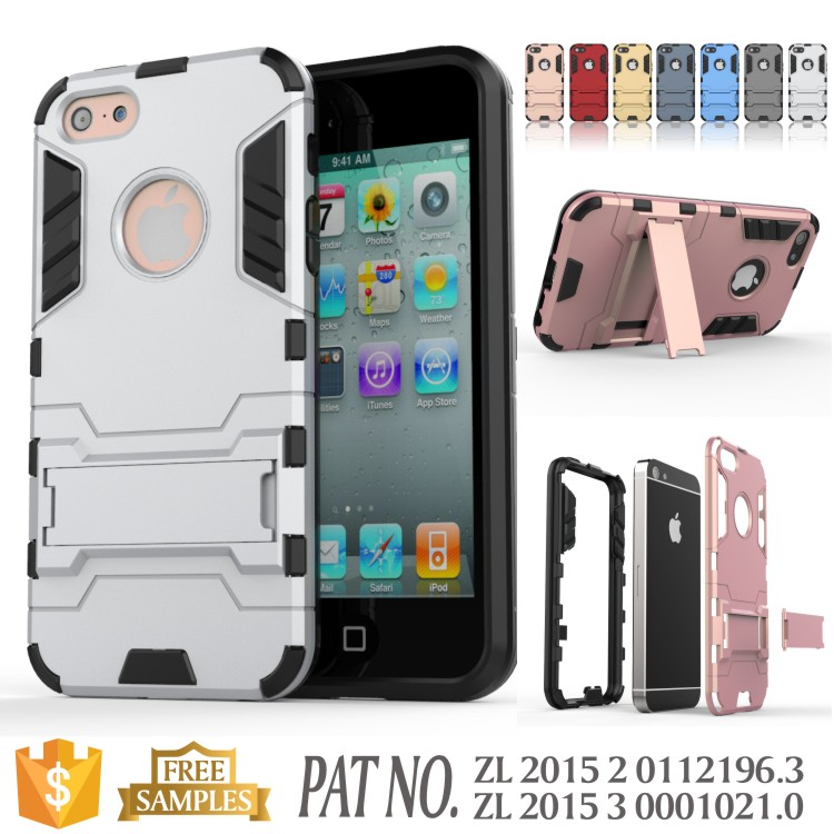 Kickstand TPU PC mobile phone cover case for iphone 5c case