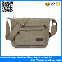 New design best selling khaki shoulder bag college shoulder bag with comfortable wide strap