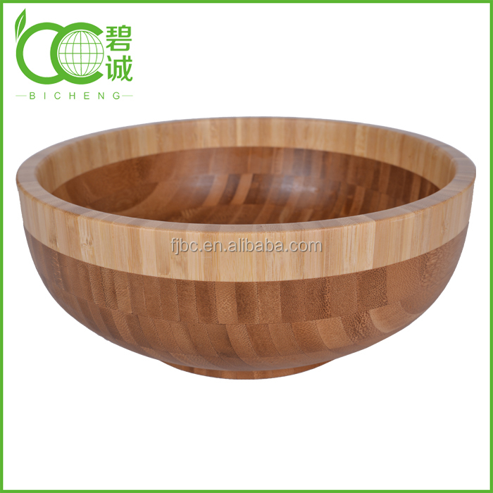 High Quality Natural Bamboo Round Different Representations Bowl at Producer Price