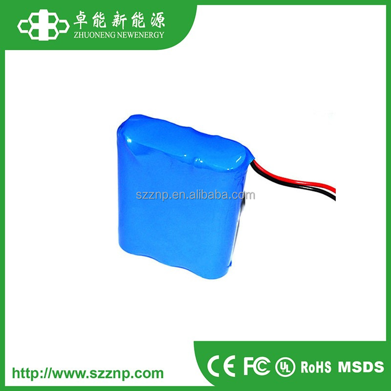 14.8V 2.2AH 18650 lithium ion battery pack