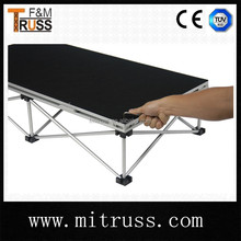 hot sale aluminum wooden stage plywood stage
