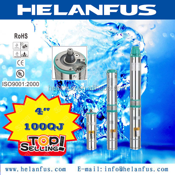 "4""100QJ stainless steel float switch submersible pump"