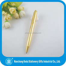 Luxury gold business pen high quality metal gel ink pen refill
