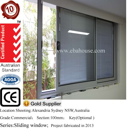 aluminum jalousie window frames and sliding window profiles with best aluminuim windows price AS2047