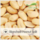 Dry roasted organic blanched peanut kernel in shell