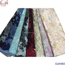 CL61563-4 african textile fabric jacquard machine textile fabric jacquard garment women party cheap french lace fabric