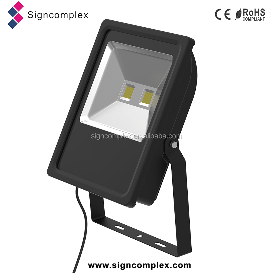 PF>0.9 no adhesive cob 100w led flood light ip65 with CE ROHS